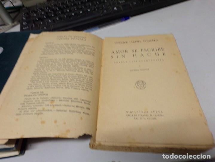 Libros antiguos: Enrique Jardiel Poncela - amor se escribe sin hache - Foto 2 - 188470006
