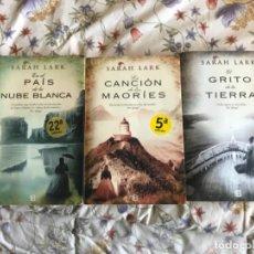 Libros antiguos: TRILOGÍA DE SARAH LARK EL PAÍS DE LA NUBE BLANCA. Lote 190128910