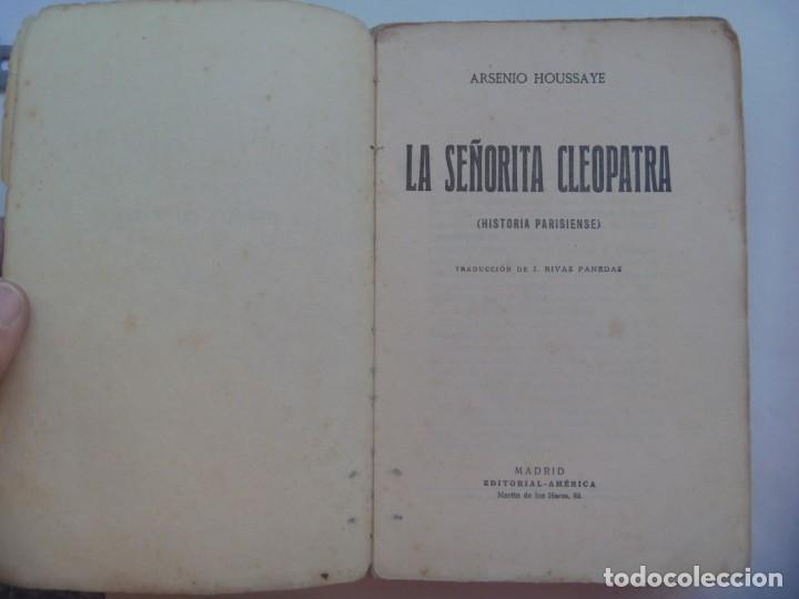 Libros antiguos: LA NOVELA PARA TODOS : CLEOPATRA POR ARSENE - HOUSSAYE . PRINCIPIOS DE SIGLO - Foto 2 - 194028413