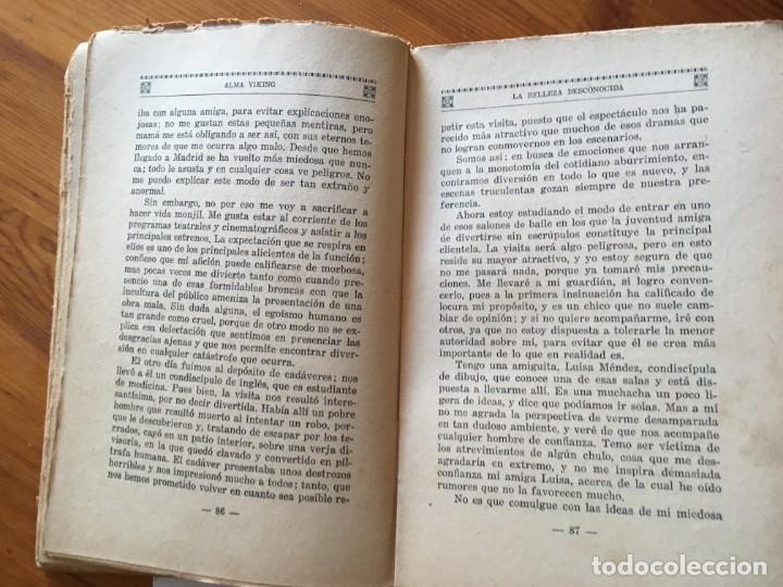 Libros antiguos: novela romantica,la belleza desconocida,año 1931 por alma viking - Foto 4 - 194407703