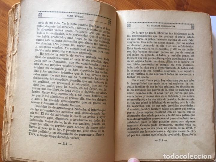 Libros antiguos: novela romantica,la belleza desconocida,año 1931 por alma viking - Foto 5 - 194407703
