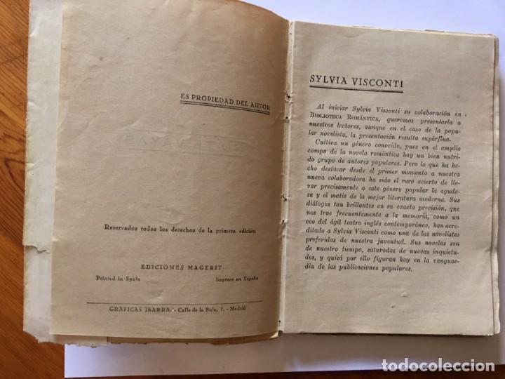 Libros antiguos: novela biblioteca romantica,no te vayas por sylvia visconti - Foto 3 - 194408160