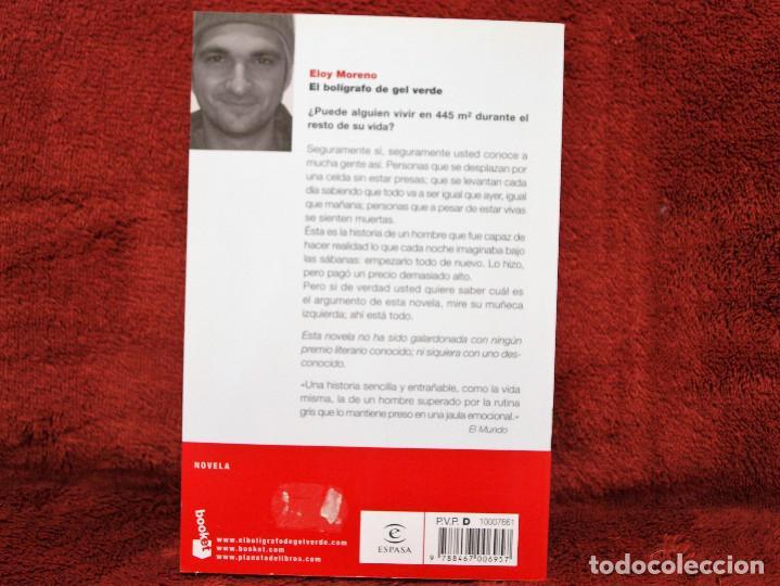 Libros antiguos: EL BOLÍGRAFO DE GEL VERDE ELOY MORENO BOOKET - Foto 2 - 194654930