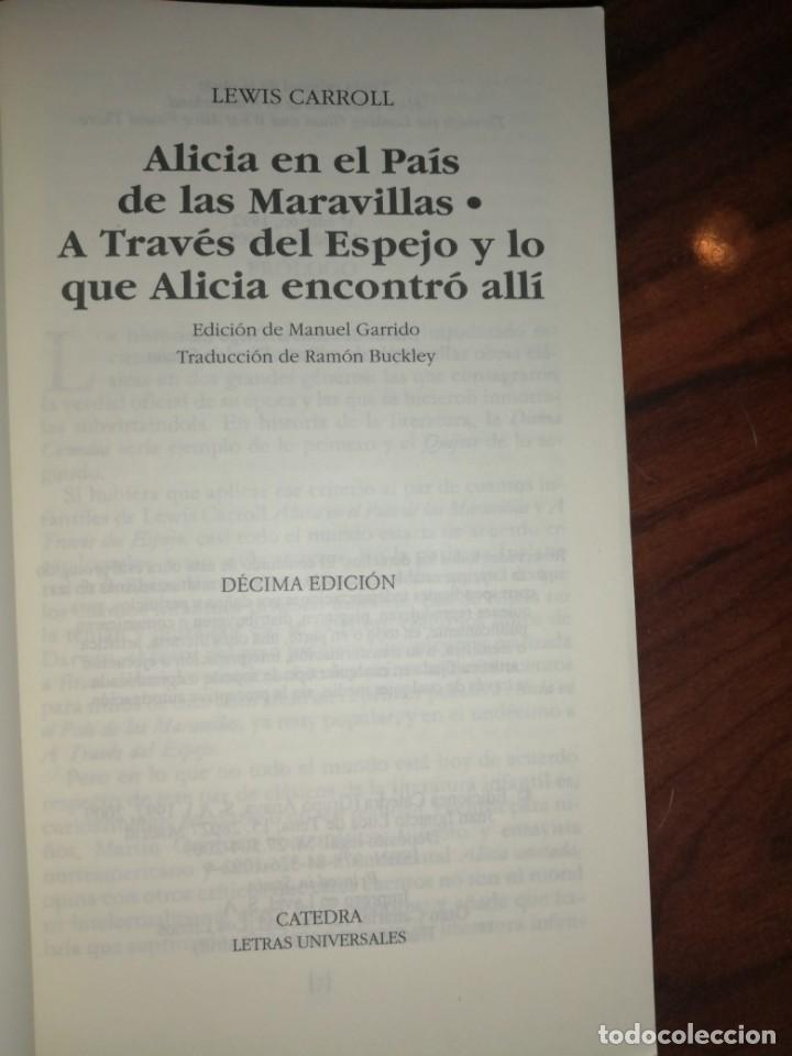 Libros antiguos: Alicia en a través del espejo - Foto 2 - 194698612