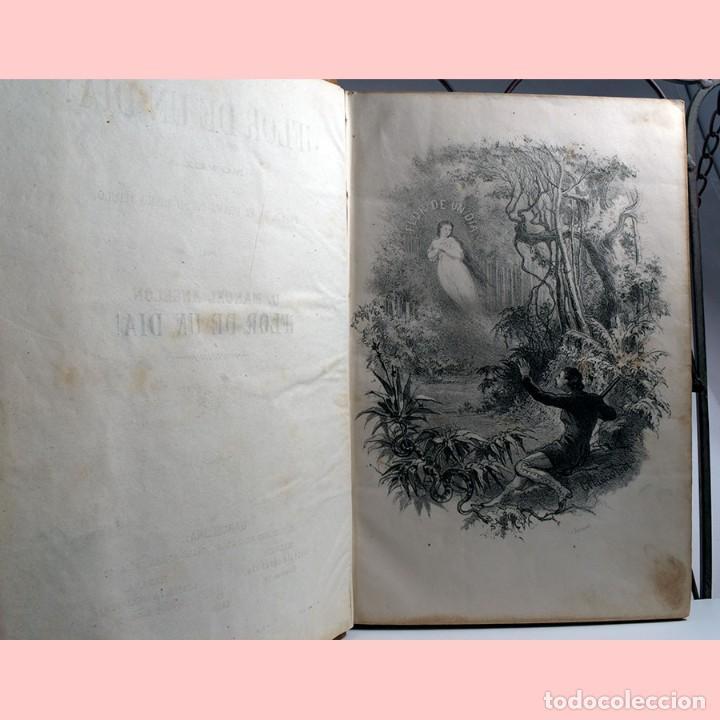 LIBRO ANTIGUO. FLOR DE UN DÍA. NOVELA. 1862 (Libros antiguos (hasta 1936), raros y curiosos - Literatura - Narrativa - Novela Romántica)
