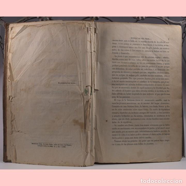 Libros antiguos: LIBRO ANTIGUO. ESPINAS DE UNA FLOR. NOVELA, 1862 - Foto 5 - 194882775