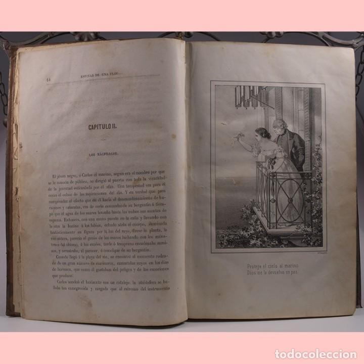 Libros antiguos: LIBRO ANTIGUO. ESPINAS DE UNA FLOR. NOVELA, 1862 - Foto 6 - 194882775