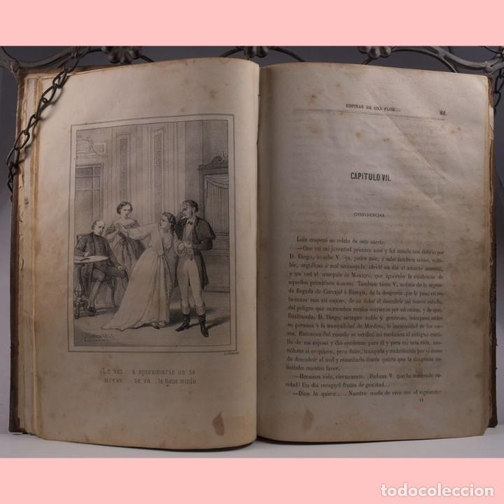 Libros antiguos: LIBRO ANTIGUO. ESPINAS DE UNA FLOR. NOVELA, 1862 - Foto 7 - 194882775