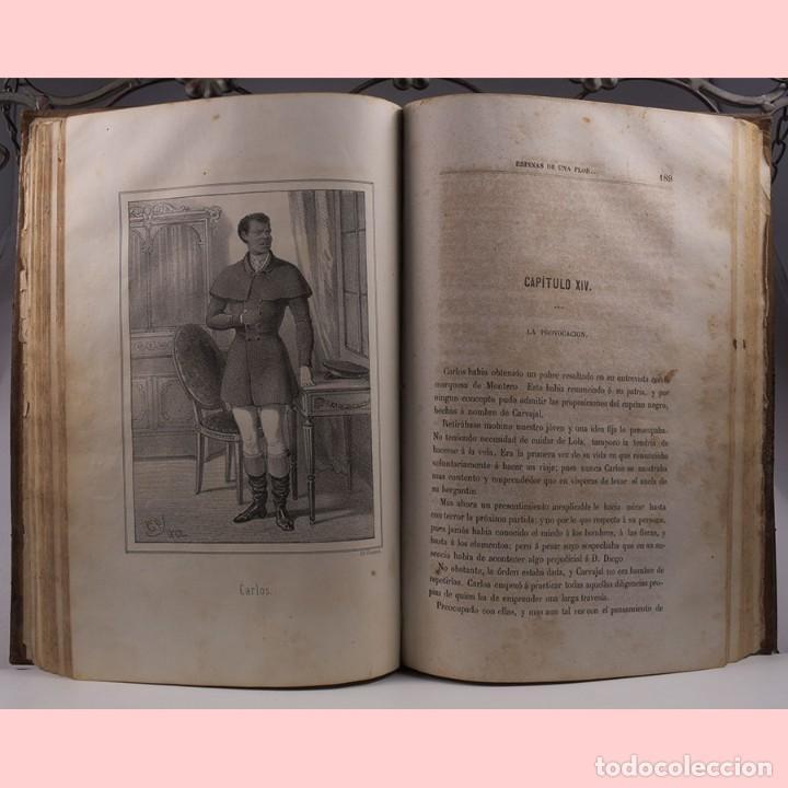 Libros antiguos: LIBRO ANTIGUO. ESPINAS DE UNA FLOR. NOVELA, 1862 - Foto 9 - 194882775