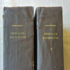 Libros antiguos: SENDA DE REDENCION. JUAN RUBIO.. Lote 195110633