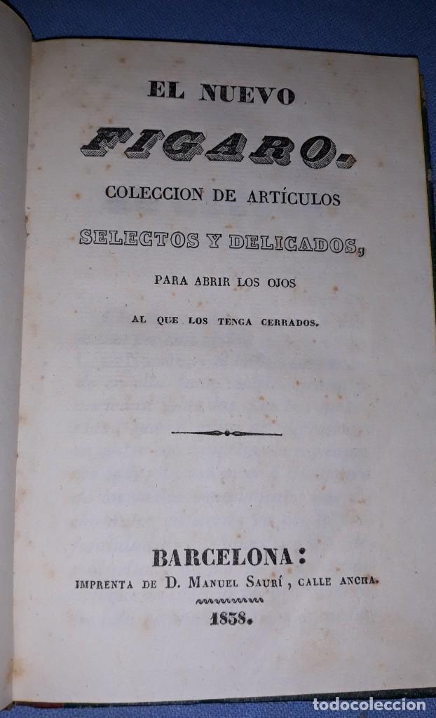 ANTIGUO LIBRO EL NUEVO FIGARO IMPRENTA MANUEL SAURI AÑO 1838 MUY BUEN ESTADO DE CONSERVACION (Libros antiguos (hasta 1936), raros y curiosos - Literatura - Narrativa - Novela Romántica)