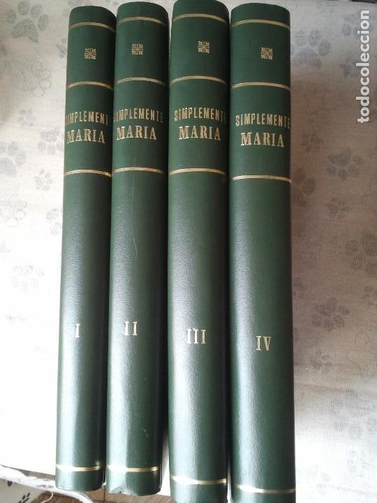 Libros antiguos: Coleccion completa de la fotonovela simplemente Maria. Encuadernada en 4 tomos - Foto 2 - 199393591