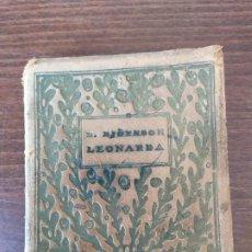 Libros antiguos: LEONARDA. BJÖRNSTJERNE BJÖRNSON. ILUSTRACIONES DE R. MARIN. MADRID, 1919. PAGS: 141. Lote 199970292
