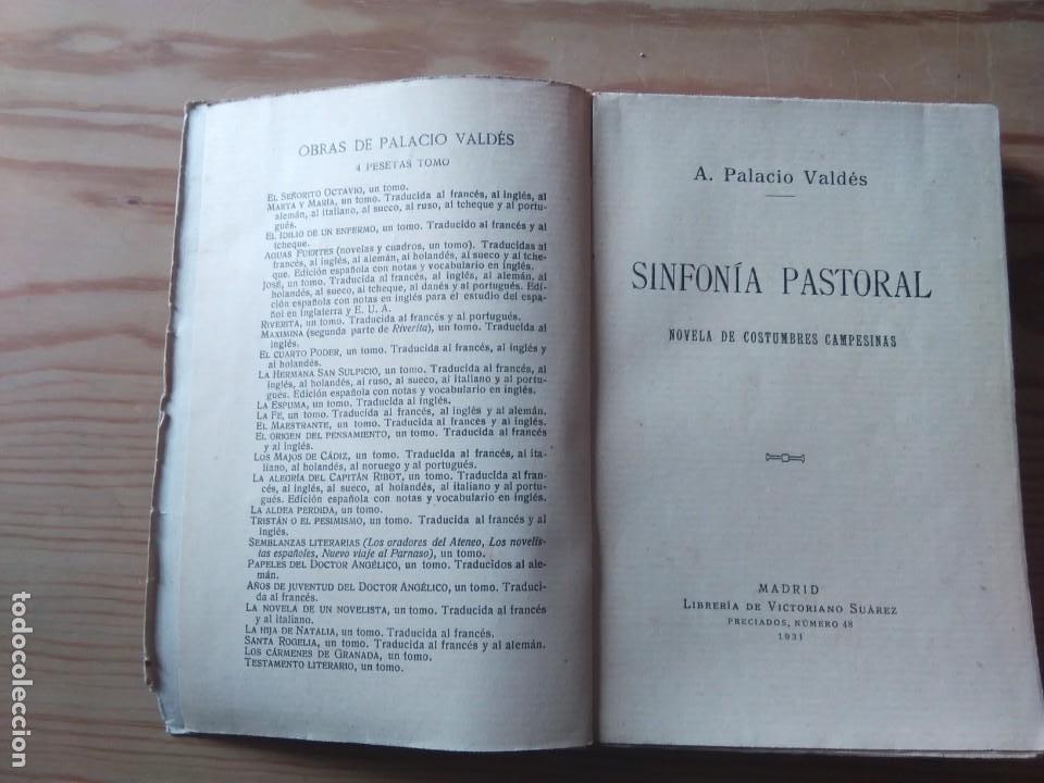 Libros antiguos: Novela 1931: SINFONIA PASTORAL, de Armando Palació Valdés - Foto 3 - 199995010