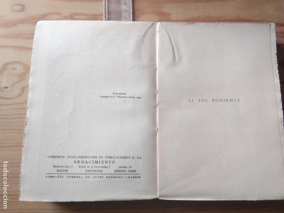 Libros antiguos: Novela 1930: EL SOL DE LA TARDE, de C.Martínez Sierra - Foto 3 - 199996150