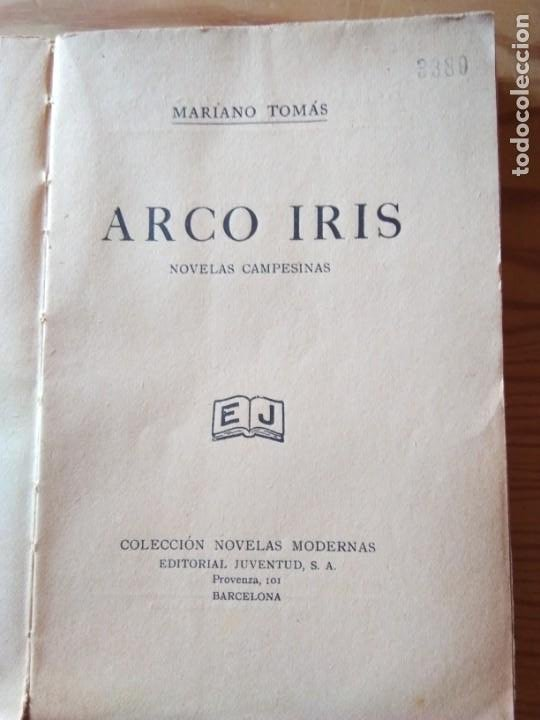 Libros antiguos: Novela 1934: ARCO IRIS, de Mariano Tomás - Foto 2 - 200177111