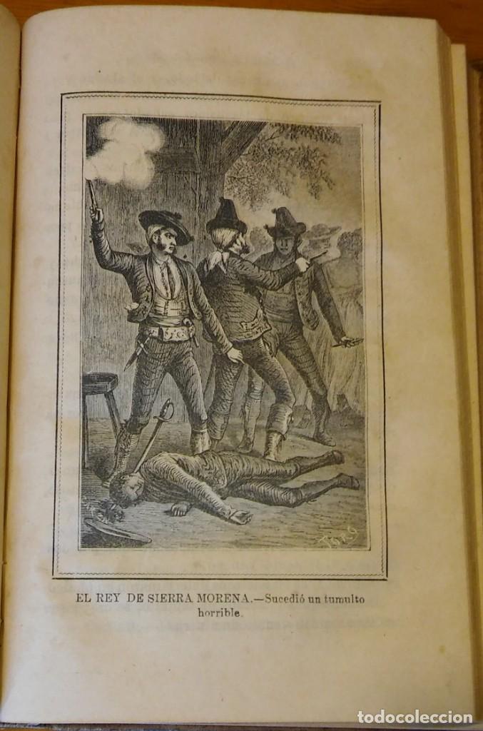 Libros antiguos: El rey de Sierra-Morena, de Manuel Fernández. Madrid, 1874. 5 tomos ilustrados. Obra completa - Foto 5 - 201863178