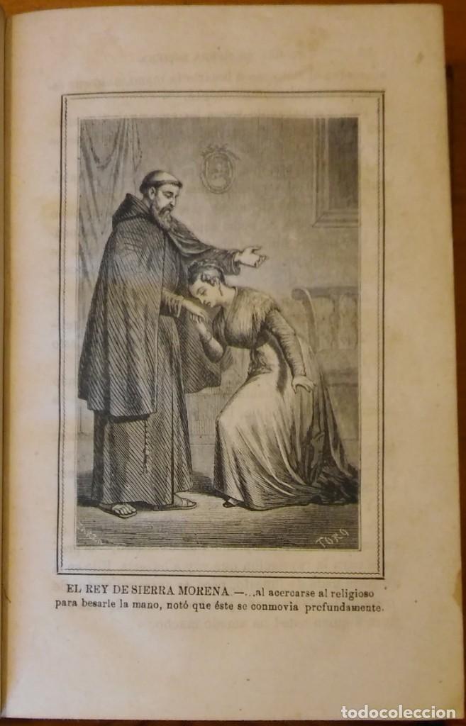 Libros antiguos: El rey de Sierra-Morena, de Manuel Fernández. Madrid, 1874. 5 tomos ilustrados. Obra completa - Foto 9 - 201863178