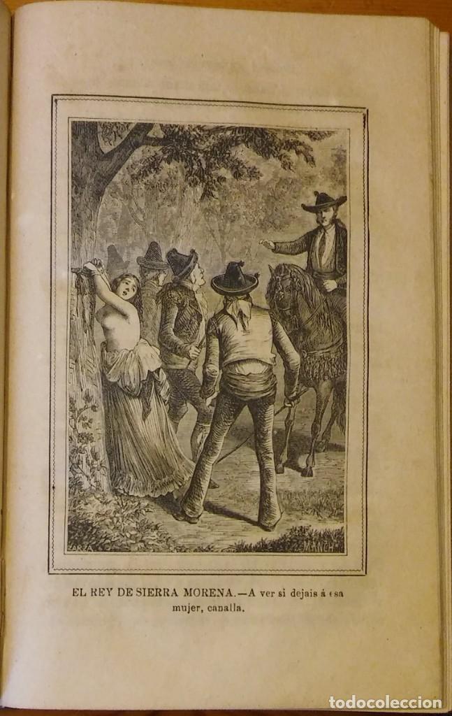 Libros antiguos: El rey de Sierra-Morena, de Manuel Fernández. Madrid, 1874. 5 tomos ilustrados. Obra completa - Foto 10 - 201863178