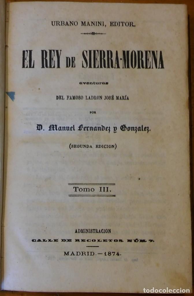 Libros antiguos: El rey de Sierra-Morena, de Manuel Fernández. Madrid, 1874. 5 tomos ilustrados. Obra completa - Foto 12 - 201863178