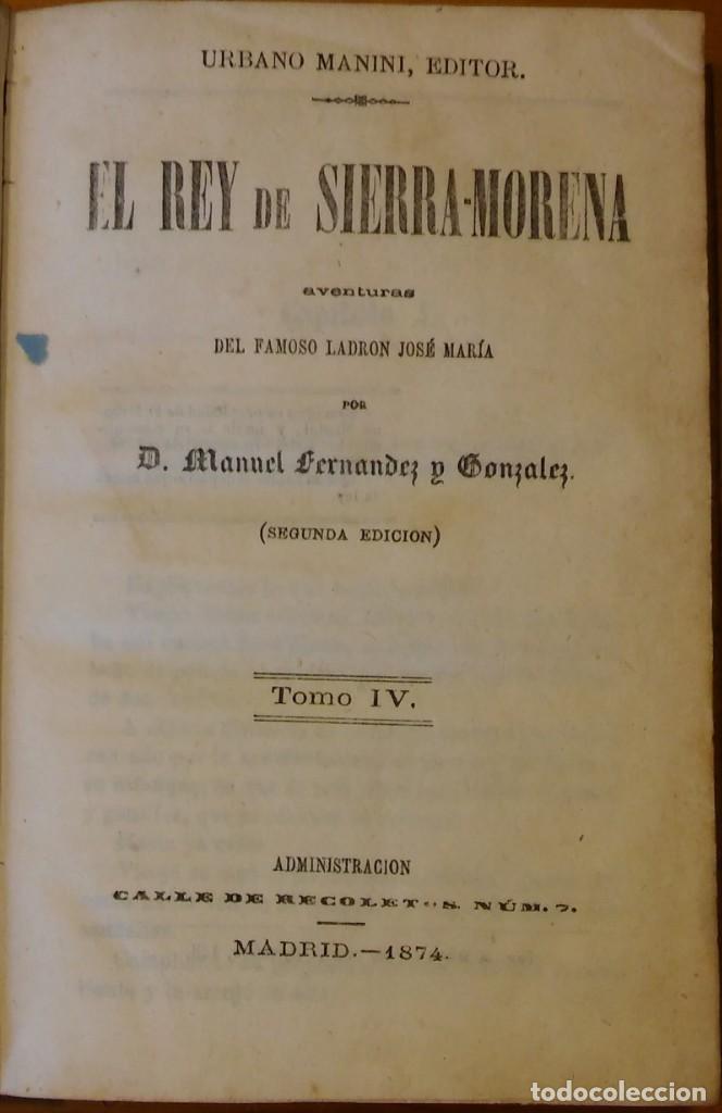 Libros antiguos: El rey de Sierra-Morena, de Manuel Fernández. Madrid, 1874. 5 tomos ilustrados. Obra completa - Foto 14 - 201863178