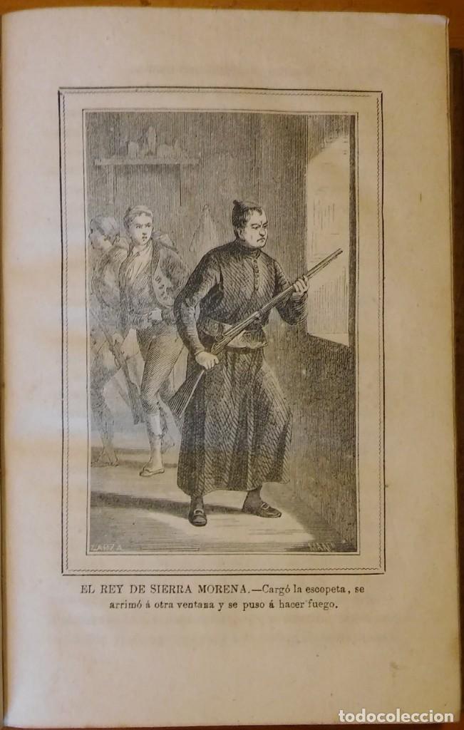 Libros antiguos: El rey de Sierra-Morena, de Manuel Fernández. Madrid, 1874. 5 tomos ilustrados. Obra completa - Foto 15 - 201863178