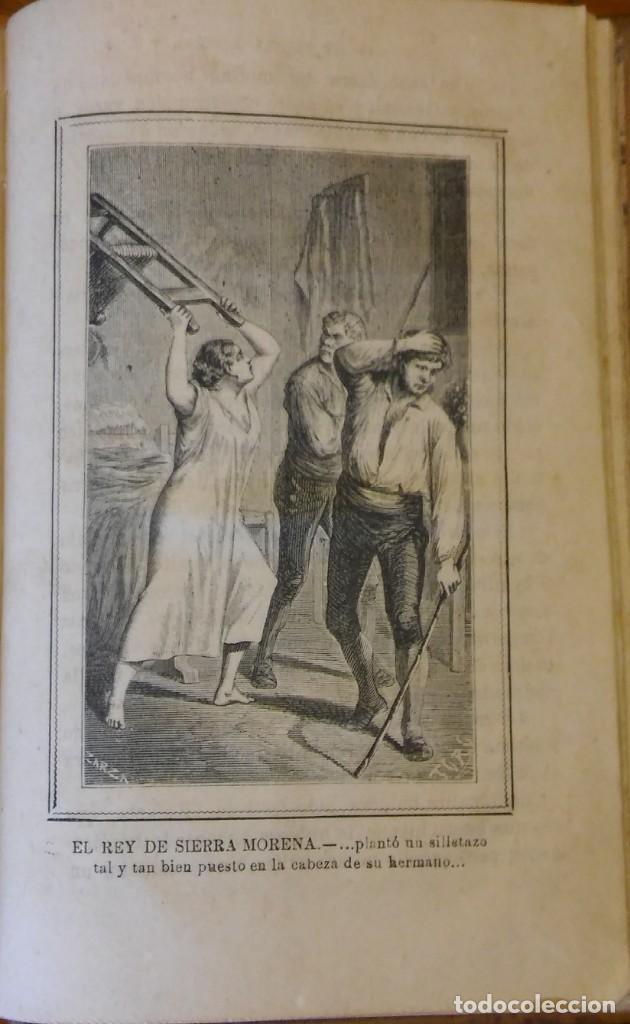 Libros antiguos: El rey de Sierra-Morena, de Manuel Fernández. Madrid, 1874. 5 tomos ilustrados. Obra completa - Foto 18 - 201863178
