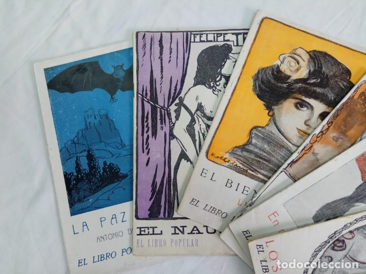 LOTE DE 9 REVISTAS CON BONITAS PORTADAS EL LIBRO POPULAR. 1913 (Libros antiguos (hasta 1936), raros y curiosos - Literatura - Narrativa - Novela Romántica)