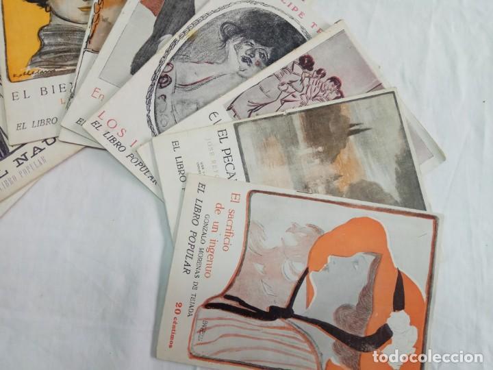 Libros antiguos: Lote de 9 revistas con bonitas portadas El Libro Popular. 1913 - Foto 2 - 203999910