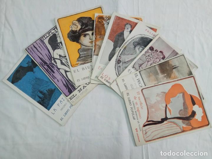 Libros antiguos: Lote de 9 revistas con bonitas portadas El Libro Popular. 1913 - Foto 3 - 203999910