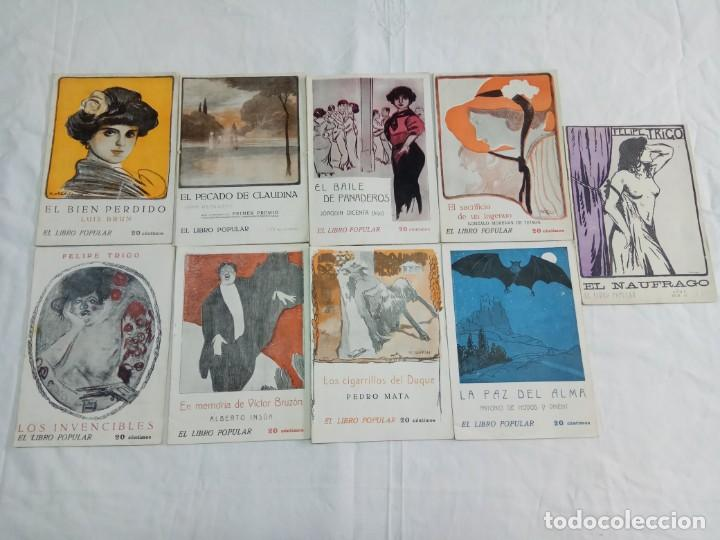 Libros antiguos: Lote de 9 revistas con bonitas portadas El Libro Popular. 1913 - Foto 4 - 203999910
