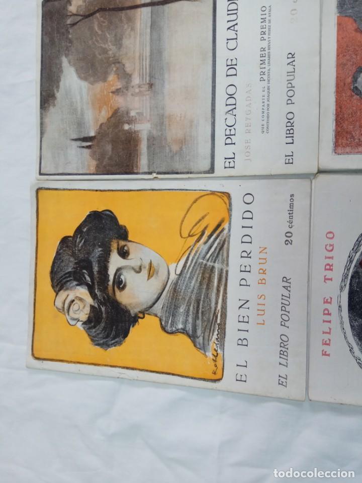 Libros antiguos: Lote de 9 revistas con bonitas portadas El Libro Popular. 1913 - Foto 5 - 203999910