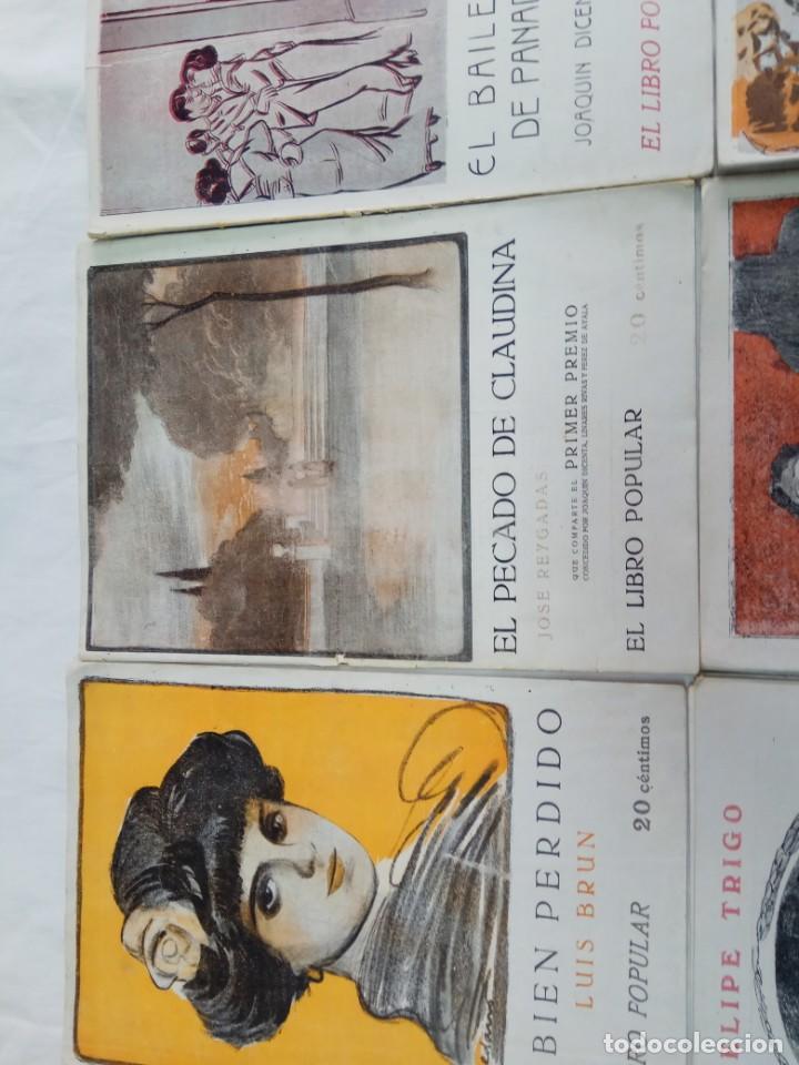 Libros antiguos: Lote de 9 revistas con bonitas portadas El Libro Popular. 1913 - Foto 6 - 203999910