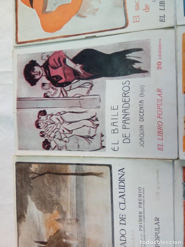 Libros antiguos: Lote de 9 revistas con bonitas portadas El Libro Popular. 1913 - Foto 7 - 203999910