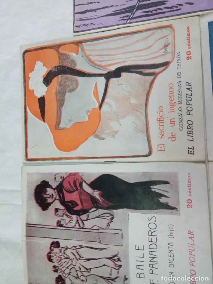 Libros antiguos: Lote de 9 revistas con bonitas portadas El Libro Popular. 1913 - Foto 8 - 203999910