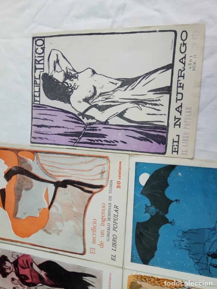 Libros antiguos: Lote de 9 revistas con bonitas portadas El Libro Popular. 1913 - Foto 9 - 203999910