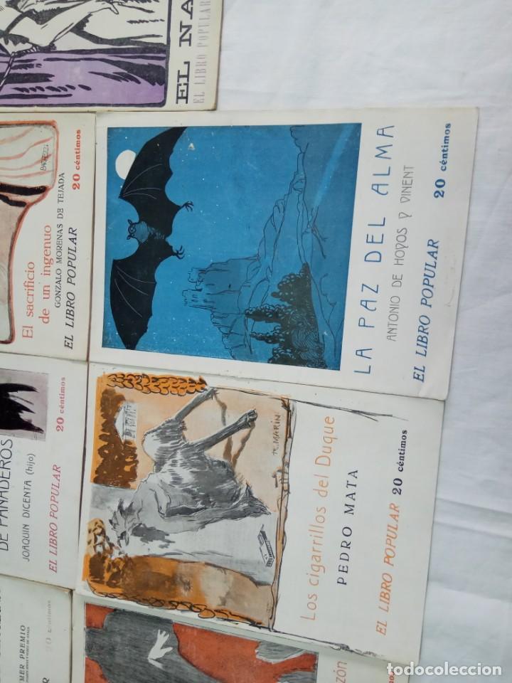 Libros antiguos: Lote de 9 revistas con bonitas portadas El Libro Popular. 1913 - Foto 10 - 203999910