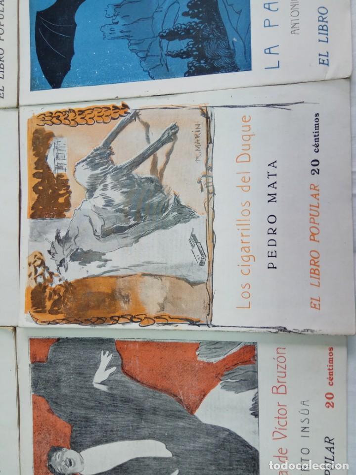 Libros antiguos: Lote de 9 revistas con bonitas portadas El Libro Popular. 1913 - Foto 11 - 203999910