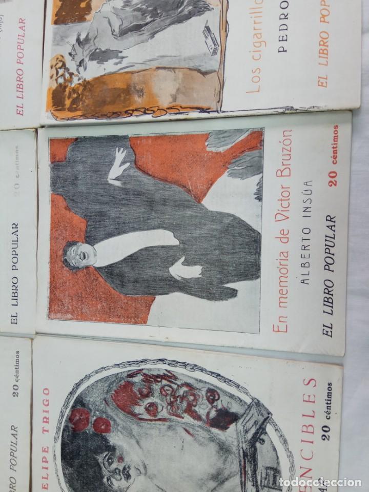 Libros antiguos: Lote de 9 revistas con bonitas portadas El Libro Popular. 1913 - Foto 12 - 203999910