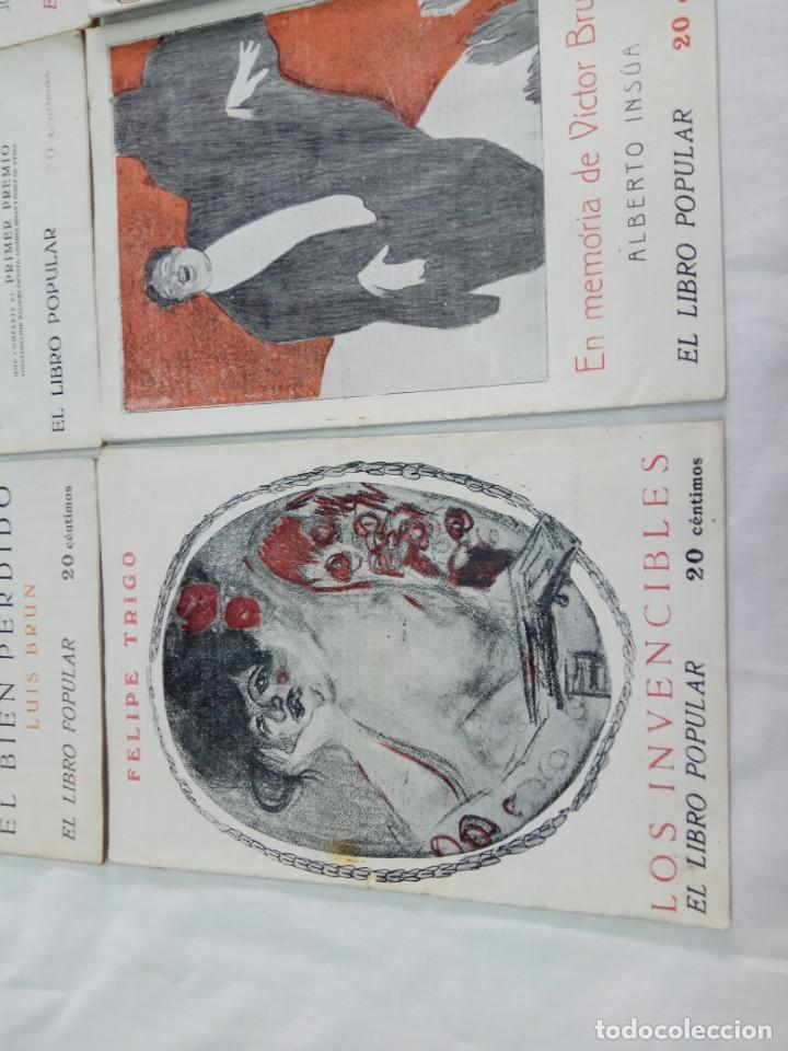 Libros antiguos: Lote de 9 revistas con bonitas portadas El Libro Popular. 1913 - Foto 13 - 203999910