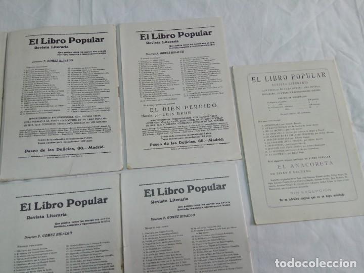 Libros antiguos: Lote de 9 revistas con bonitas portadas El Libro Popular. 1913 - Foto 15 - 203999910