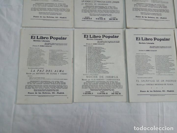 Libros antiguos: Lote de 9 revistas con bonitas portadas El Libro Popular. 1913 - Foto 16 - 203999910