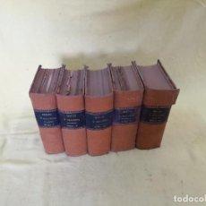 Libros antiguos: SERGIO Y CLAUDIA, 5 TOMOS, ED. ARAMIS, MURCIA, S. XIX - PPIOS XX. Lote 205051600