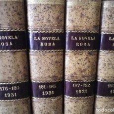 Libros antiguos: 124 NOVELAS ROSA PRIMERA EDICIÓN 1924 HASTA 1932 31 TOMOS 4 NOVELAS CADA UNO ENCUADERNADOS PIEL. Lote 205319193