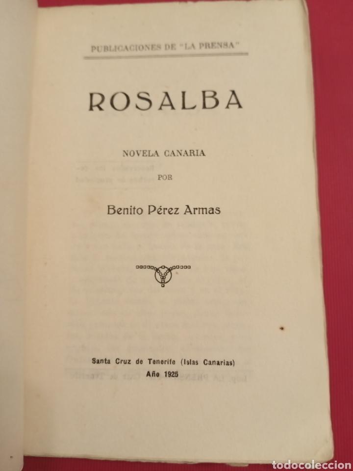Libros antiguos: 1925 Rosalba Benito Pérez Armas Santa Cruz de Tenerife - Foto 3 - 205449757