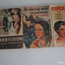 Libros antiguos: 3 NOVELAS DE LOS AÑOS 30. Lote 205609423