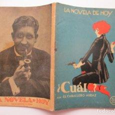 Libros antiguos: LA NOVELA DE HOY Nº 73. AÑOS 1920-30. Lote 205739985