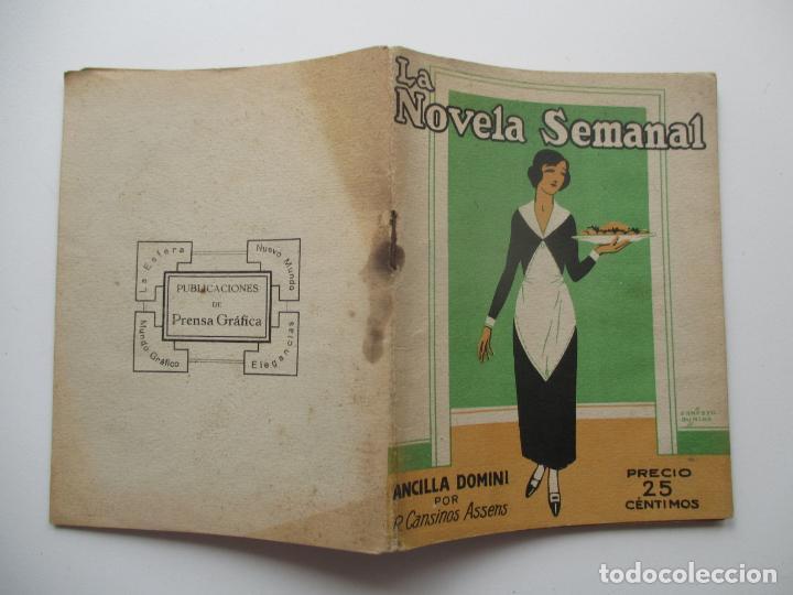 LA NOVELA SEMANAL Nº 110. AÑOS 1920-30 (Libros antiguos (hasta 1936), raros y curiosos - Literatura - Narrativa - Novela Romántica)