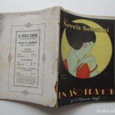 Libros antiguos: LA NOVELA SEMANAL Nº 124. AÑOS 1920-30. Lote 205765805