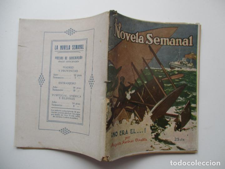 LA NOVELA SEMANAL Nº 125. AÑOS 1920-30 (Libros antiguos (hasta 1936), raros y curiosos - Literatura - Narrativa - Novela Romántica)